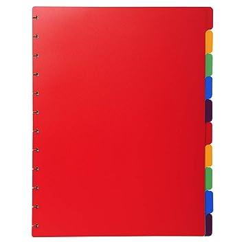 Exacompta 86003E - Recambio de 12 separadores para las carpetas de fundas con anillas, A4, multicolor: Amazon.es: Oficina y papelería