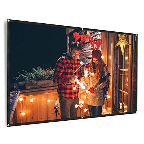 REIDEA Outdoor Projector Screen 100 Inch 16:9 Foldable Anti-Crease Outdoor & Indoor Movie Screen for Home Theater, Meeting etc.