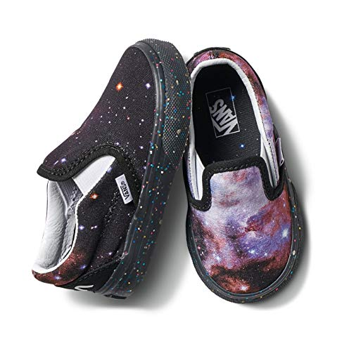 Vans Infant Toddler X NASA Space Voyager Galaxy Classic Slip-On Shoes (7.5 Toddler, Space Voyager Galaxy/Black) -