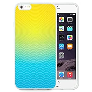 NEW Unique Custom Designed iPhone 6 Plus 5.5 Inch Phone Case With Sun And Ocean Line Illustration_White Phone Case