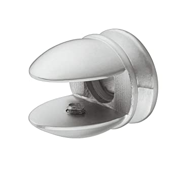 2 Regalträger Regalhalter edelstahloptik Glasbodenträger Regalbodenträger 5-8mm