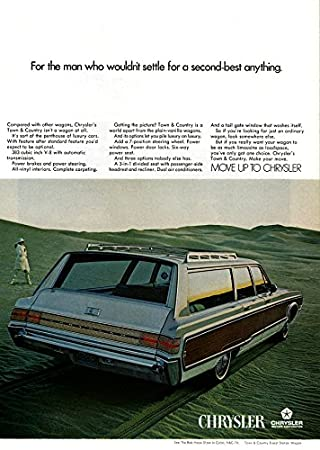 amazon 1968 chrysler town country 3 seat station wagon for 1966 Dodge Polara Wagon 1968 chrysler town country 3 seat station wagon quot for the man who