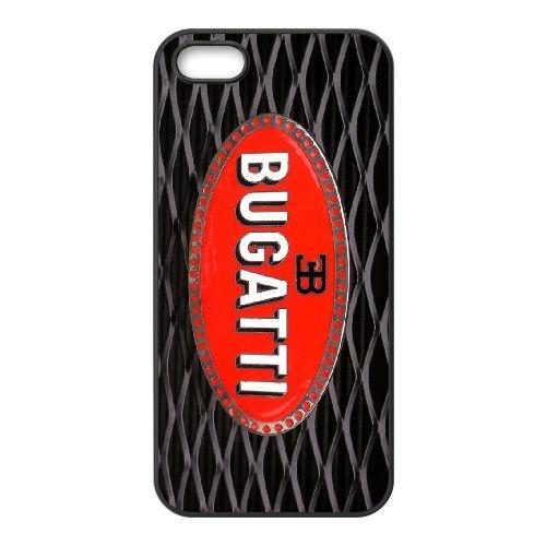 Bugatti 003 coque iPhone 5 5S cellulaire cas coque de téléphone cas téléphone cellulaire noir couvercle EOKXLLNCD22569