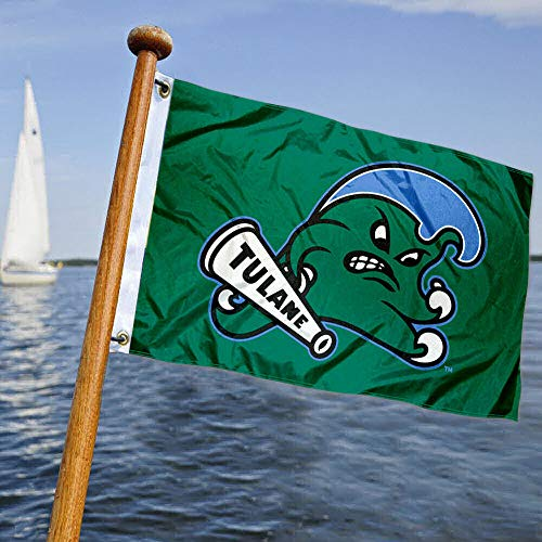 Tulane Green Wave Boat and Nautical Flag