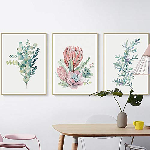 (lightclub Nordic Style Leaf Plant Painting Wall Living Room Bedroom Picture Poster Decor - 2# 3040)
