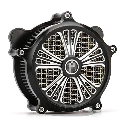 Black Dyna street bob air intake softail hertiage air filters for harley electra glide filters black 01-07:
