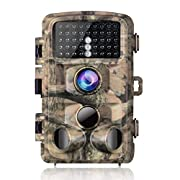 """#LightningDeal 【2020 Upgrade】Campark Trail Camera-Waterproof 16MP 1080P Game Hunting Scouting Cam with 3 Infrared Sensors for Wildlife Monitoring with 120°Detecting Range Motion Activated Night Vision 2.4"""" LCD 42pcs"""