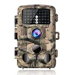 Super Clear Pictures and Full HD VideosFeaturing 14MP and 1080P resolution,the trail camera allows you to enjoy the wonderful animal world.High Sensitivity with Long Trigger Distance 3 passive infrared sensors design can save more batt...
