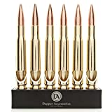 6 Individually Packed 50 Caliber Bullet Bottle Openers by Dapper Accessories