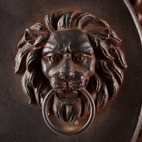 SEI 2-Piece Bartram Lion's Head Gate Wall Plaque Set