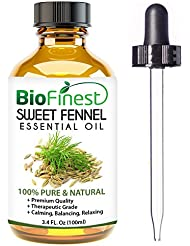 BioFinest Fennel Oil - 100% Pure Fennel Essential Oil - Premium Quality - Therapeutic Grade - Best For Aromatherapy - FREE E-Book and Dropper (100ml)