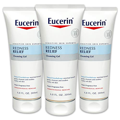 (Eucerin Redness Relief Cleansing Gel - Fragrance Free, Gently Cleanses Sensitive Skin - 6.8 fl. oz. Tube (Pack of 3))