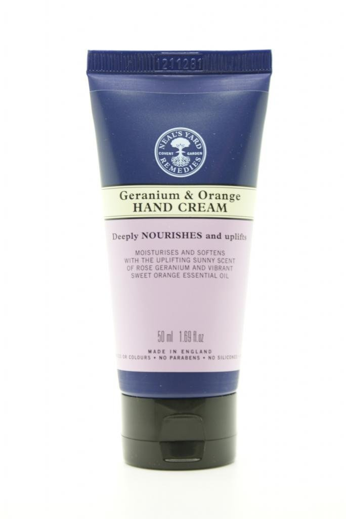 Neal's Yard Remedies Geranium & Orange Hand Cream 50ml Sealed NYR Organic 2301