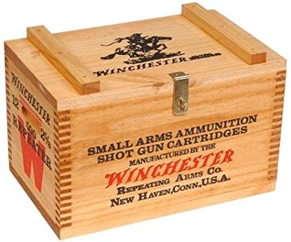 amazon com winchester wooden ammo box stain only home kitchen