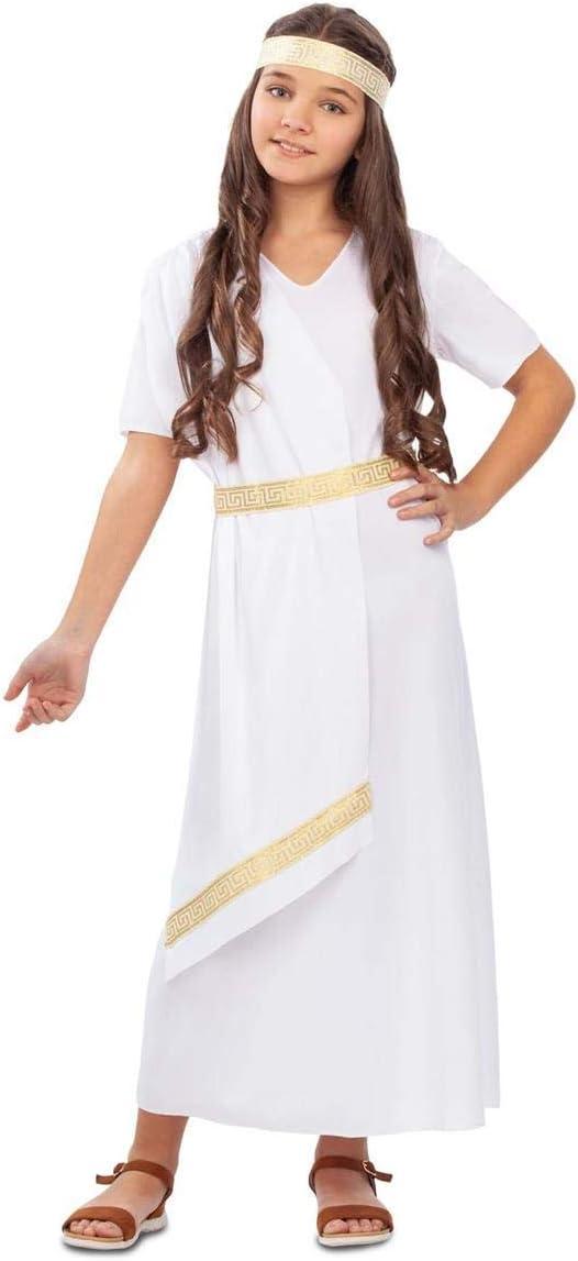 My Other Me Disfraz de Emperatriz Romana Blanca para niña: Amazon ...
