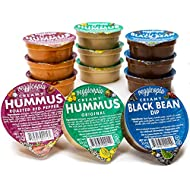 Veggicopia Creamy Dip & Hummus Variety Pack | All Natural, Gluten-free, Dairy-free, Vegan, High Protein Snack. Pantry Storage, Shelf Stable, Emergency Supply. 2.5 oz dip cups (Pack of 12).