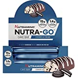 Nutramino Nutra-Go Cake Bar, Cookies & Cream, 16 x 38g bars