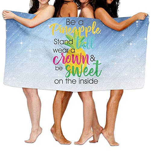 Shenigon Bath Towel Be A Pineapple Customize Quick Dry Large Swim Beach Towels