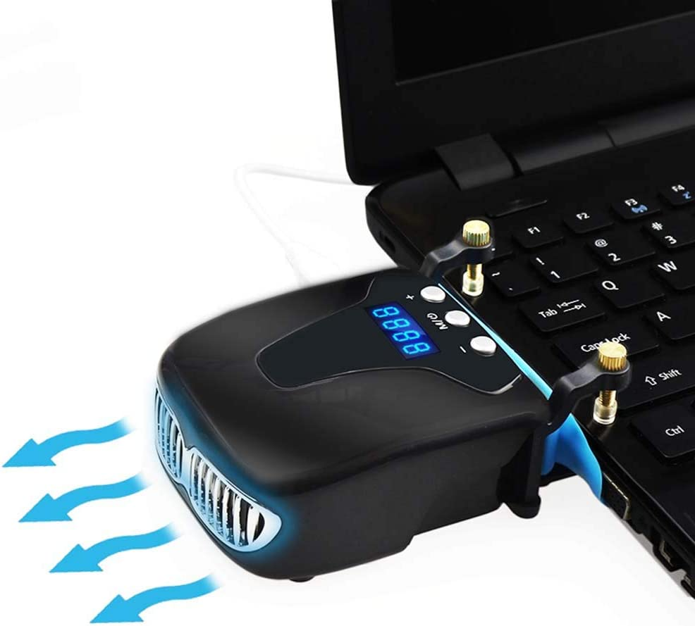 Gybai New Powerful Laptop Cooling Vacuum Fan External USB Silent Ice Notebook Cooler Digital Display Adjustable Smart Cooler VS Pad