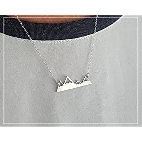 Mountain Necklace - A Mountain Range Pendant Necklace. Made Of Solid Sterling Silver. The Mountains Are Calling