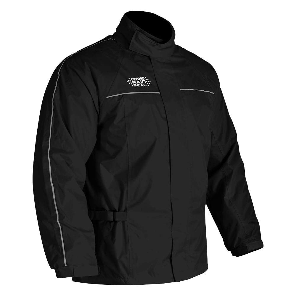 Full Black 2XL Oxford Rain Seal Motorcycle Motorbike All Weather Over Jacket