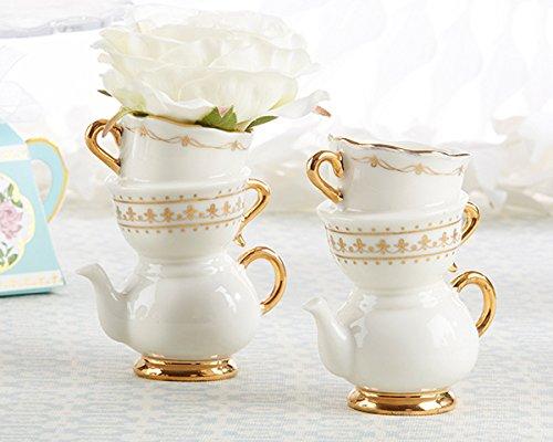 20 Tea Time Whimsy Ceramic Bud Vase