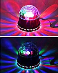 OxyLED OxyMas ST-01 51 Color Changing Magic Ball Stage Lights, Auto Sound Activated 15W RGB Mini Rotating DJ Stage Party Lighting