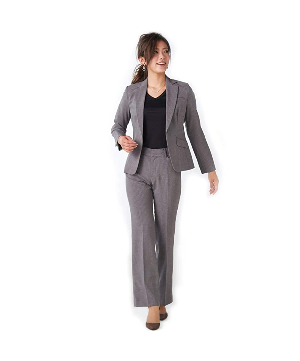 チーズ癒すバリー[nissen(ニッセン)] ◆リニューアル◆洗える7分袖2スカートスーツ3点セット(ジャケット+タイトスカート+セミフレアスカート) レディース