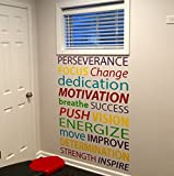 Wall Art for Gym, Typography Art, Gym Wall Decal, Office Wall Decal, Classroom Wall Art
