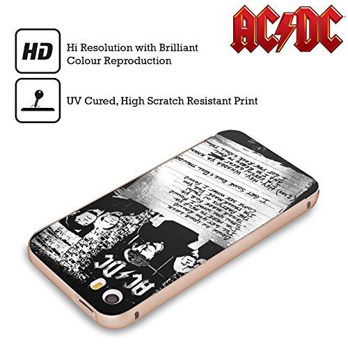 Officiel AC/DC ACDC A Obtenu Un Certain Tonnerre De Rock 'n' Roll Paroles Or Étui Coque Aluminium Bumper Slider pour Apple iPhone 5 / 5s / SE