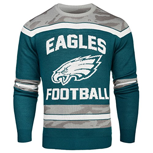 FOCO Philadelphia Eagles Ugly Glow In The Dark Sweater - Mens - Mens Small by FOCO