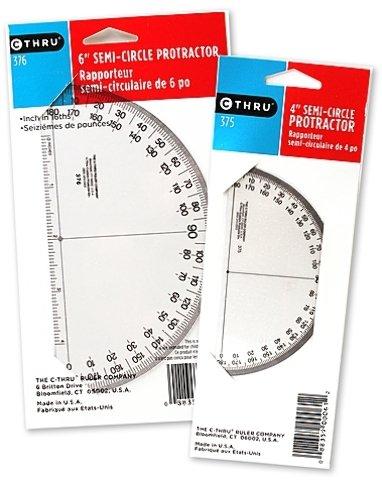 Westcott 180 Degree Protractors (4 In.) 9 pcs sku# 1822237MA by Westcott