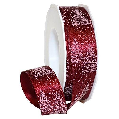 "Morex Ribbon 69725/20-619 Torino Polyester Ribbon, 1"" x 22 yd, Burgundy"
