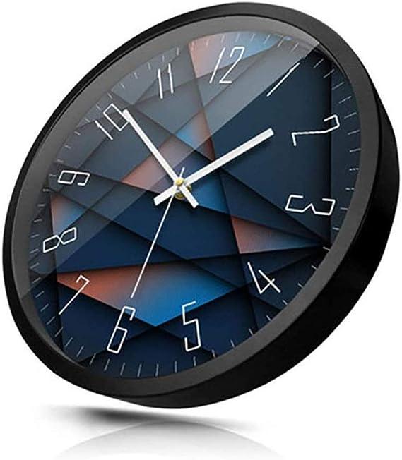 Nologo ZYPD Reloj de Pared de Metal Moderno, silencioso ...