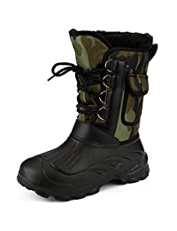 Mens Waterproof Protective Rain Boot Winter Snow Warm Boots Lightweight Outdoor Shoes
