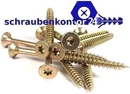 4,0 x 20 Spanplattenschraube PROFI Senkkopf verzinkt rostgesch/ützt 200 St/ück SPL PROFI SK VZ TORX