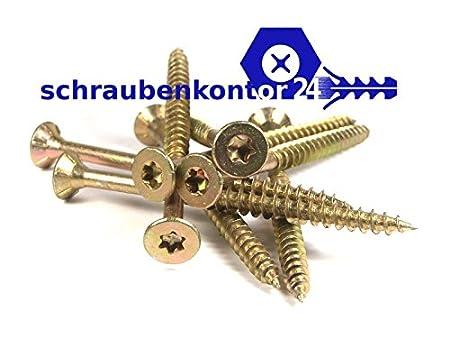 200 St/ück 4,0 x 16 SPL PROFI SK VZ TORX Spanplattenschraube PROFI Senkkopf verzinkt rostgesch/ützt