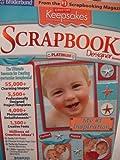 Keepsakes - Scrapbook Designer Platinum {WIN: 98SE/ME/2000SP4/XP Home & Pro} Photo Embellishments & Fonts, Easy. 4 CD Set PC CD-Rom