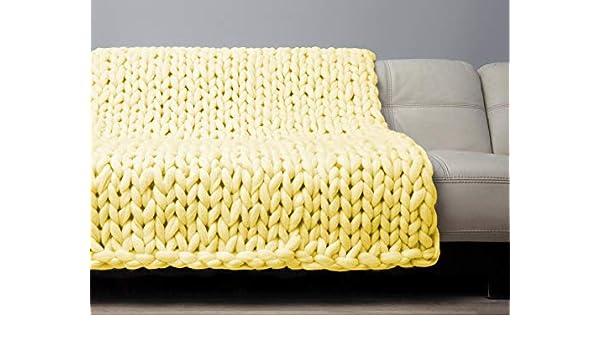 Tremendous Amazon Com Sale Handmade Knit Chunky Blanket 100 Wool Bralicious Painted Fabric Chair Ideas Braliciousco