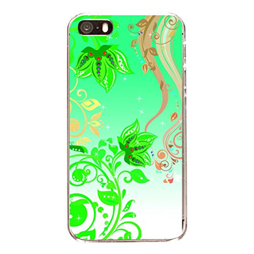 """Disagu Design Case Coque pour Apple iPhone 5s Housse etui coque pochette """"Green flowers"""""""