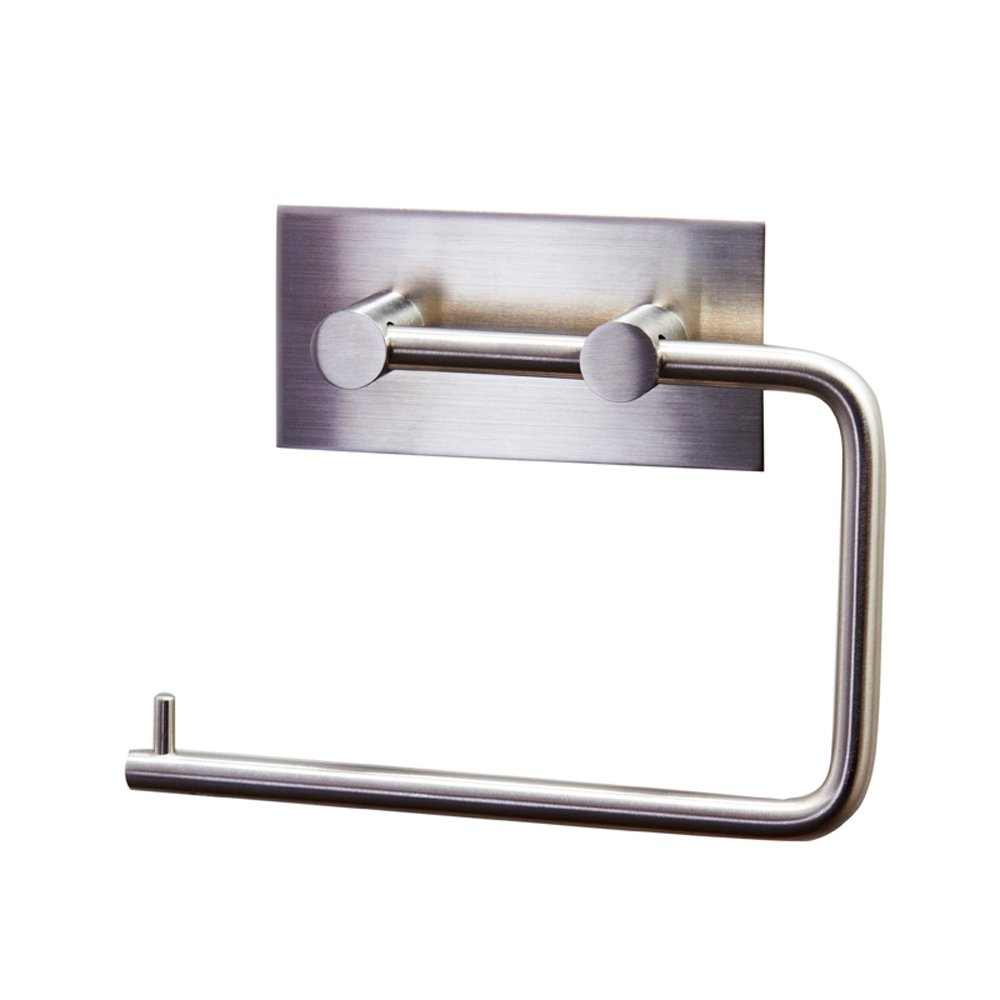 Modern free standing toilet paper holder - Kes Tissue Roll Hanger Wall Mount Contemporary Style Brushed Finish