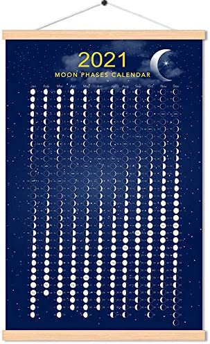 Lunar Calendar April 2022.Amazon Com 2021 March To 2022 April Moon Phase Calendar Print Poster Vertical Canvas Lunar Cycle Chart Scroll Frame Ready Space Wall Decor 16 X 24 Inch Posters Prints