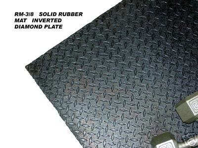 "3/8"" 4'x6' Solid Rubber Mat"
