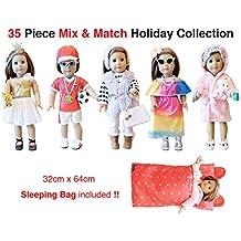 35 Piece American Girl Doll Accessories - 18 inch Doll Clothes Accessories Set Fits American Girl, Our Generation, Journey Girls by by WEARDOLL