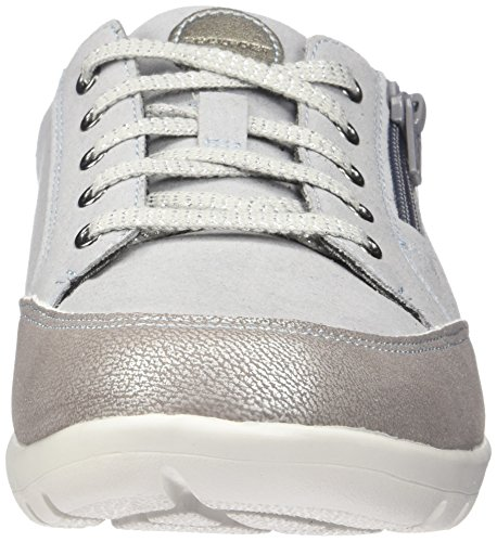 Rockport Donna Moreza Zip Cravatta Fashion Sneaker Metallizzato