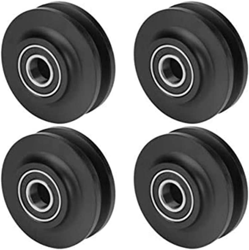 4 ruedas correderas para puerta de grano de armario, gabinete, ventana, polea deslizante