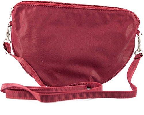Big Damen Cheshire Skinny Slim Cabrio Tasche, für bis zu 20Karten rot