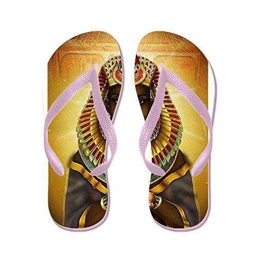 Cafepress Egyptische Godin Isis - Flip Flops, Grappige String Sandalen, Strand Sandalen Roze