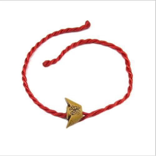 HRCxue Pulsera Pulsera de Cuerda Color Rojo Cuerda Cumpleaños de San ...