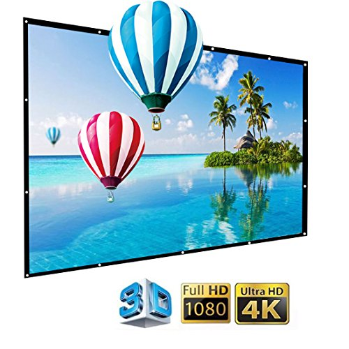 (IGREAT 200 inch Portable Outdoor Projector Screen, 16:9 Folding HD Big Size Movie Screen for Home Theater Office Presentation)